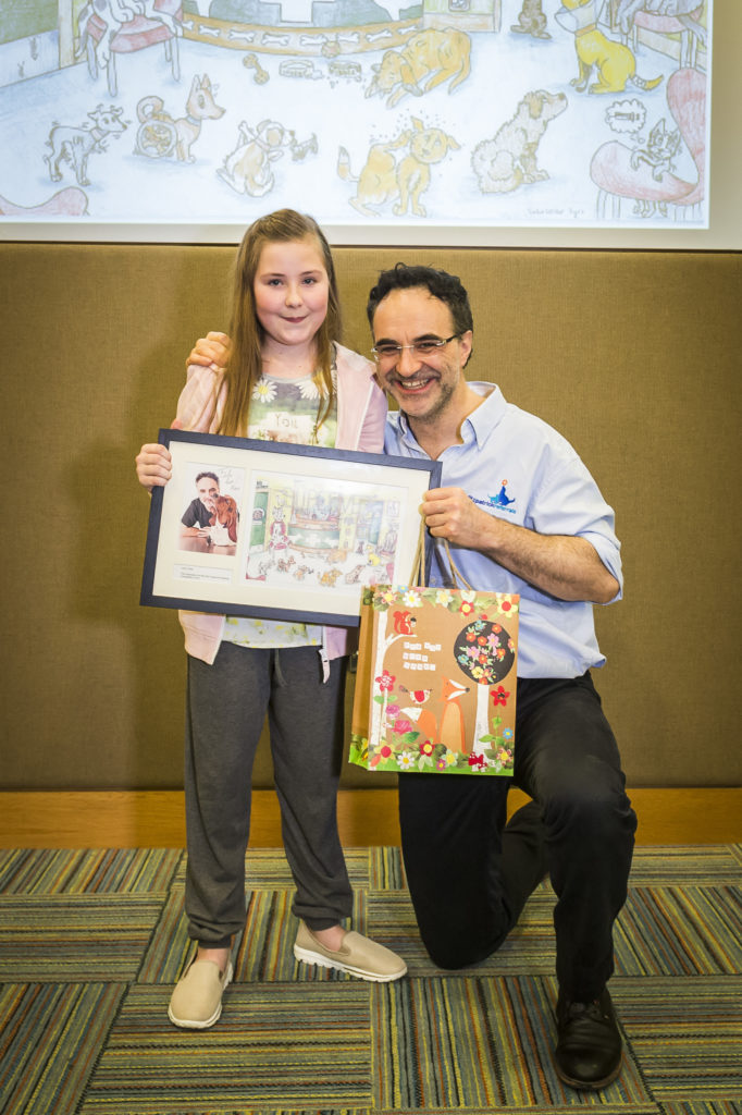 Lola Cotter with Noel Fitzpatrick at the event at Fitzpatrick Referrals