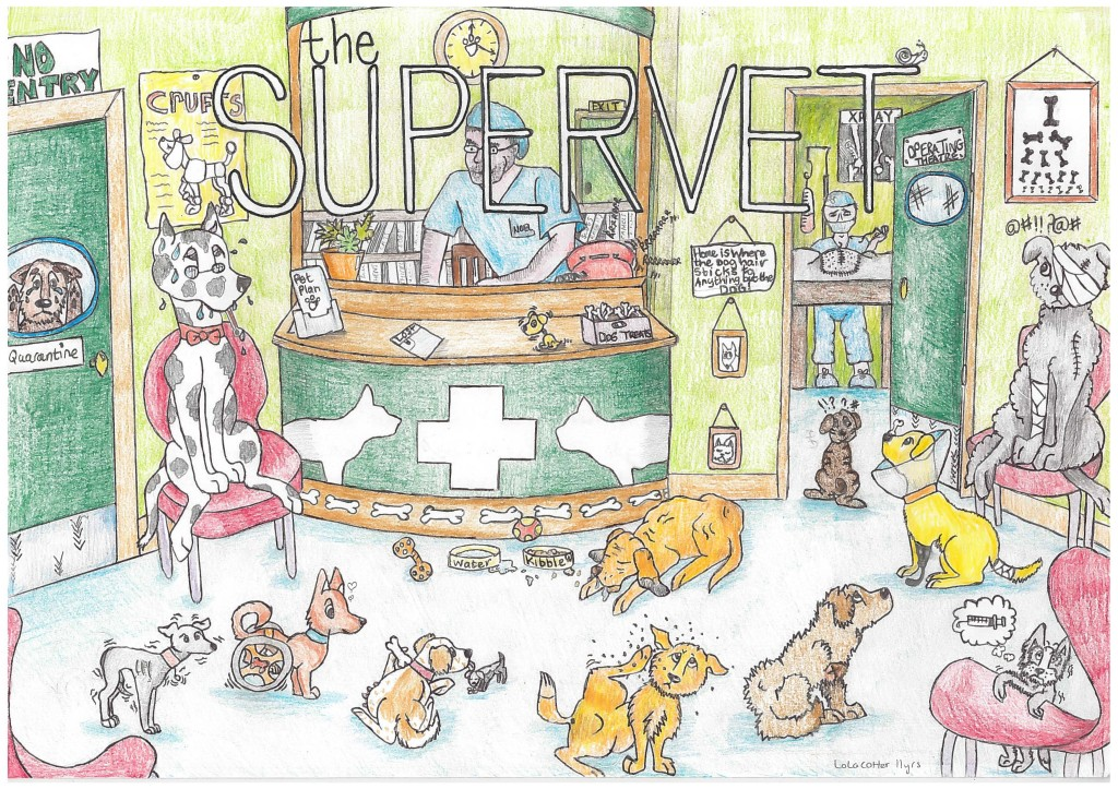 Lola Cotter's drawing that inspired the Supervet Drawing Competition