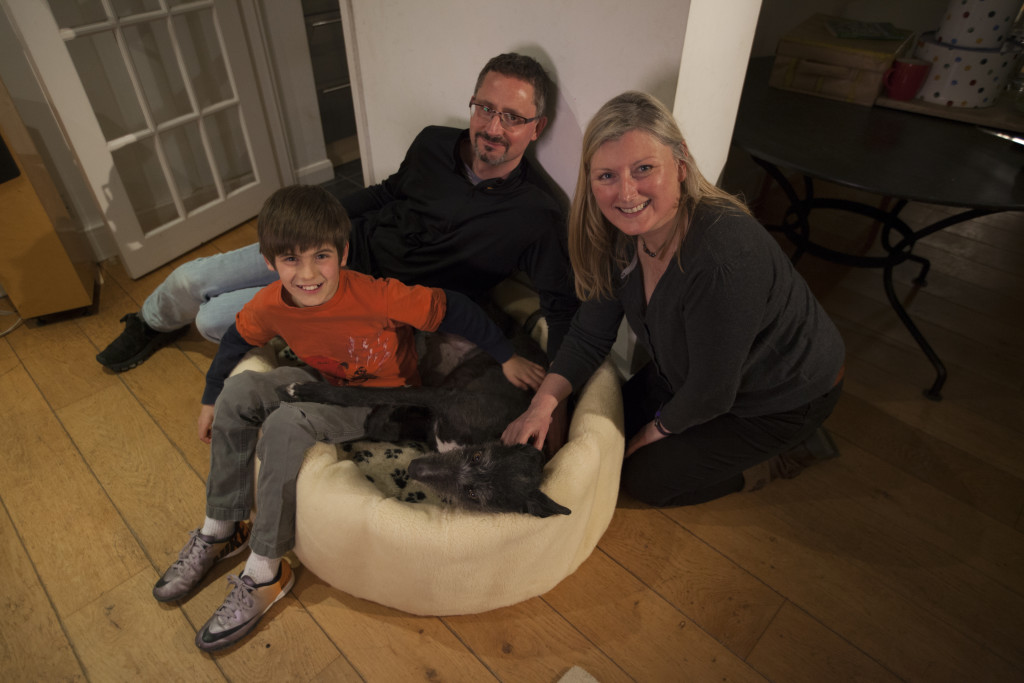 Willow at home with his family