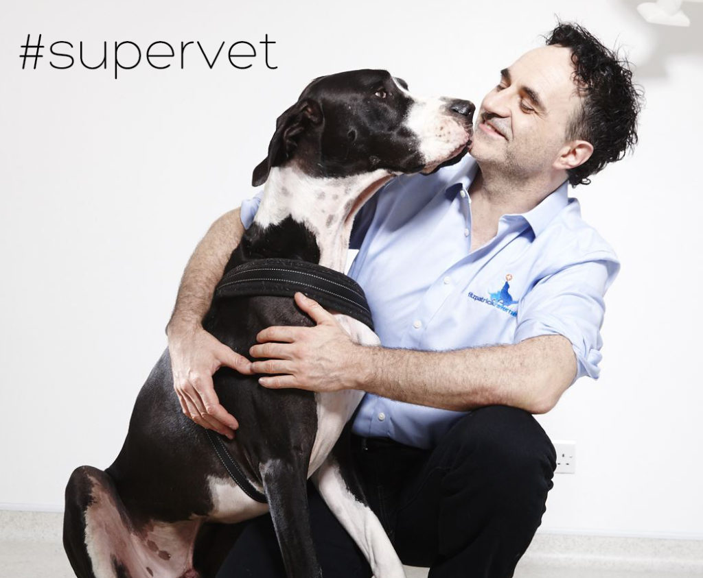 Professor Noel Fitzpatrick with Mr Mac